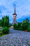 Barsana monastery complex in Maramures Stock Images