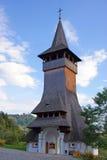 Barsana monastery: entrance bell tower royalty free stock photography
