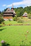 Barsana monastery garden stock photos