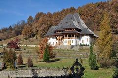 Barsana monastery house Royalty Free Stock Image