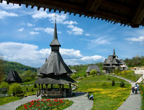 Barsana Monastery in Maramures. Barsana Monastery is a complex with sixteen nuns. Created after 1989, on the site of a church abandoned in 1790, the complex has Stock Image