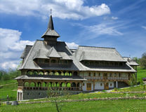Barsana Monastery in Maramures. Barsana Monastery is a complex with sixteen nuns. Created after 1989, on the site of a church abandoned in 1790, the complex has Royalty Free Stock Photography