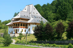 The Barsana Monastery (Maramures, Romania) Stock Photo