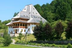 The Barsana Monastery (Maramures, Romania) stock photo