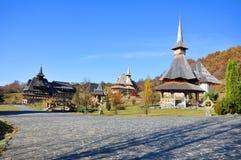 Barsana monastery view Stock Photos