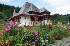 Barsana orthodoxer hölzerner Klosterkomplex Lizenzfreie Stockbilder