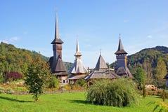 Barsana orthodoxes Kloster: allgemeine Ansicht Lizenzfreie Stockfotografie