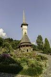 Barsana, romania, europe, monastery. View of the wooden church in the monastery barsana Stock Image