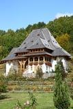 Barsana Wodden Monastery. Orthodox Barsana Wooden Monastery in Maramures, Romania Stock Photo