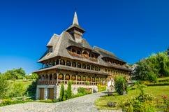 Barsana wooden monastery, Maramures, Romania. Stock Image