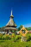 Barsana wooden monastery, Maramures, Romania. Stock Photos