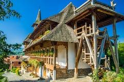 Barsana wooden monastery, Maramures, Romania. Stock Images