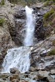 Barscoon Waterfall. In mountains of Kyrgyzstan Stock Image