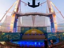 Barselona, Spaine - 2015年9月06日:海的游轮魅力拥有了皇家加勒比国际性组织 免版税图库摄影