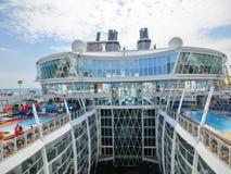 Barselona, Spaine - 2015年9月06日:皇家加勒比国际性组织,海的魅力 库存图片