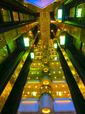 Barselona, Spaine - 2015年9月06日:细节interier皇家加勒比海的游轮魅力  图库摄影
