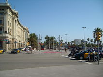Barselona city street in Spain. In the Europe Stock Photography
