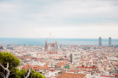 Barselona. La Sagrada Familia with a bird's-eye view Stock Photos