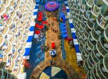 Barselona, Spaine - 6 Σεπτεμβρίου, 2015: Βασιλικές Καραϊβικές Θάλασσες, γοητεία των θαλασσών στοκ φωτογραφίες