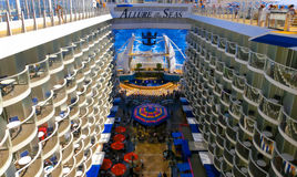Barselona, Spaine - September, 6 2015: Royal Caribbean, Allure of the Seas. Sailing from Barselona on September 6 2015. The second largest passenger ship Royalty Free Stock Photos