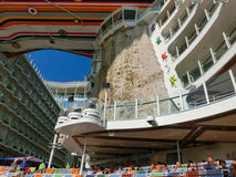 Barselona, Spaine - September, 6 2015: Royal Caribbean, Allure of the Seas. Sailing from Barselona on September 6 2015. The second largest passenger ship Stock Photos