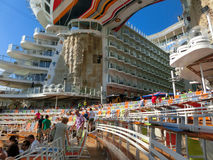 Barselona, Spaine - September, 6 2015: Royal Caribbean, Allure of the Seas. Sailing from Barselona on September 6 2015. The second largest passenger ship Stock Image