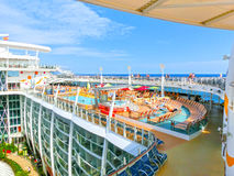 Barselona, Spaine - September 06, 2015: Royal Caribbean, Allure of the Seas Stock Images