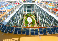 Barselona, Spaine - September 06, 2015: Royal Caribbean, Allure of the Seas. Sailing from Barselona on September 6 2015. The second largest passenger ship Royalty Free Stock Image