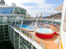Barselona, Spaine - September 06, 2015: Royal Caribbean, Allure of the Seas. Sailing from Barselona on September 6 2015. The second largest passenger ship Stock Images