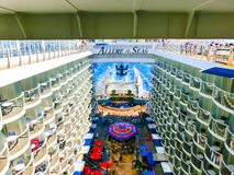 Barselona, Spaine - September, 6 2015: Royal Caribbean, Allure of the Seas. Sailing from Barselona on September 6 2015. The second largest passenger ship Royalty Free Stock Image