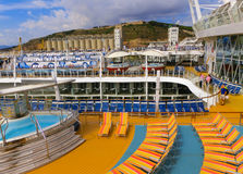 Barselona, Spaine - September, 6 2015: Royal Caribbean International, Allure of the Seas. Barselona, Spaine - September, 6 2015: The cruise ship Allure of the Stock Photos