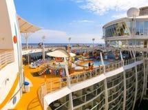 Barselona, Spaine - September, 6 2015: Royal Caribbean International, Allure of the Seas. Barselona, Spaine - September, 6 2015: The cruise ship Allure of the Stock Images