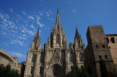 Barselona. View of the Barcelona Cathedral Royalty Free Stock Photos