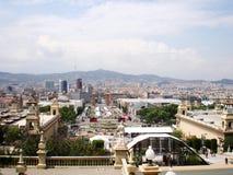 Barselona panoramic view. Panoramic view of Barselona, Spain Royalty Free Stock Images