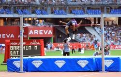BARSHIM, Mutaz Essa στη ΣΥΝΕΔΡΙΑΣΗ AREVA, ένωση διαμαντιών του Παρισιού IAAF Στοκ Εικόνες