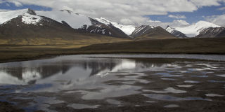 Barskoon valley in Kyrgyzstan, Tien Shan mountains Stock Images