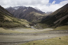 Barskoon valley in Kyrgyzstan, Tien Shan mountains Stock Photo