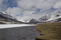 Barskoon valley in Kyrgyzstan, Tien Shan mountains Stock Image
