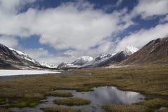 Barskoon valley in Kyrgyzstan, Tien Shan mountains Stock Photo