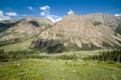 Barskoon walley. Tien Shan, Kirghizia. Barskoon walley. Tien Shan mountains, Kirghizia Stock Image