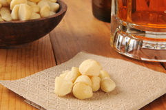 Barsnack, macadamia noten royalty-vrije stock fotografie