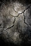 Barst bij cement Stock Foto's