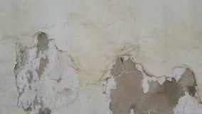 Barst op de oude cementmuur, oud cement royalty-vrije stock foto