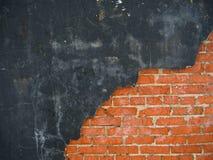 Barst op een muur stock afbeeldingen