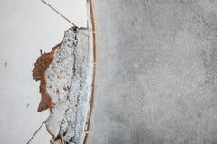 Barst op het gebouw Stock Foto