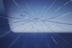 Barst op het windscherm van de auto Royalty-vrije Stock Foto's