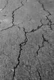 Barst van ruw asfalt royalty-vrije stock foto's