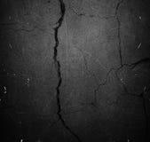 Barst zwarte achtergrond of textuur stock foto
