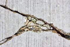 Barsten in beton Royalty-vrije Stock Afbeelding