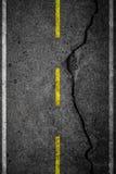 Barsten op asfalt stock fotografie